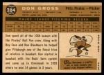 1960 Topps #284  Don Gross  Back Thumbnail