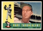 1960 Topps #436  Marv Throneberry  Front Thumbnail