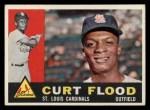 1960 Topps #275  Curt Flood  Front Thumbnail