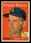 1958 Topps #318  Frank House  Front Thumbnail