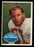 1960 Topps #109  Carl Brettschneider  Front Thumbnail