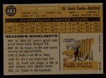 1960 Topps #383  Leon Wagner  Back Thumbnail