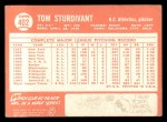 1964 Topps #402  Tom Sturdivant  Back Thumbnail
