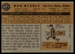 1960 Topps #371  Bud Byerly  Back Thumbnail