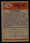 1955 Bowman #67  Edward Bell  Back Thumbnail