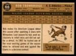 1960 Topps #66  Bob Trowbridge  Back Thumbnail