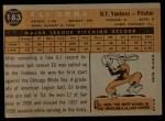 1960 Topps #183  Eli Grba  Back Thumbnail