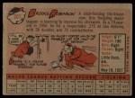1958 Topps #307  Brooks Robinson  Back Thumbnail