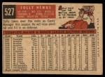 1959 Topps #527  Solly Hemus  Back Thumbnail