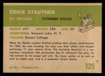 1961 Fleer #125  Ernie Stautner  Back Thumbnail