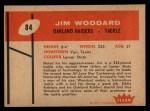 1960 Fleer #84  Jim Woodard  Back Thumbnail