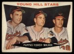 1960 Topps #399   -  Milt Pappas / Jack Fisher / Jerry Walker Young Hill Stars Front Thumbnail