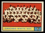 1961 Topps #7 ^YEL^  White Sox Team Front Thumbnail
