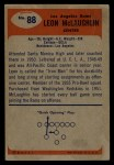 1955 Bowman #88  Leon McLaughlin  Back Thumbnail