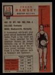 1957 Topps #15  Frank Ramsey  Back Thumbnail