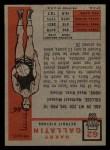 1957 Topps #62  Harry Gallatin  Back Thumbnail