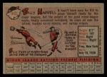 1958 Topps #443  Billy Harrell  Back Thumbnail