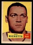 1957 Topps #8  Dick Ricketts  Front Thumbnail