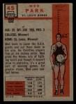 1957 Topps #45  Med Parke  Back Thumbnail