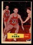 1957 Topps #45  Med Parke  Front Thumbnail