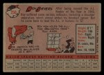 1958 Topps #250  Roy Sievers  Back Thumbnail