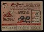 1958 Topps #68  Daryl Spencer  Back Thumbnail