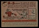1958 Topps #468  Bob Schmidt  Back Thumbnail