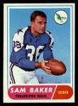 1968 Topps #32  Sam Baker  Front Thumbnail