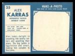 1961 Topps #35  Alex Karras  Back Thumbnail