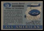 1955 Topps #13  Aaron Rosenberg  Back Thumbnail