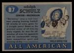 1955 Topps #87  Germany Schultz  Back Thumbnail