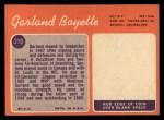 1970 Topps #219  Garland Boyette  Back Thumbnail