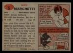 1957 Topps #5  Gino Marchetti  Back Thumbnail
