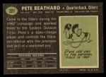 1969 Topps #221  Pete Beathard  Back Thumbnail