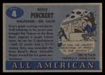 1955 Topps #4  Erny Pinckert  Back Thumbnail