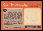 1970 Topps #206  Russ Washington  Back Thumbnail