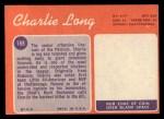 1970 Topps #188  Charles Long  Back Thumbnail