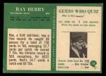 1966 Philadelphia #15  Ray Berry  Back Thumbnail