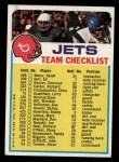 1973 Topps  Checklist   Jets Front Thumbnail