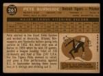 1960 Topps #261  Pete Burnside  Back Thumbnail
