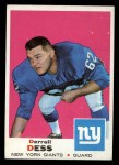 1969 Topps #219  Darrell Dess  Front Thumbnail