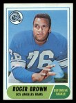 1968 Topps #158  Roger Brown  Front Thumbnail