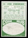 1968 Topps #108  Steve Stonebreaker  Back Thumbnail