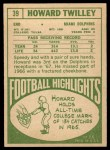 1968 Topps #39  Howard Twilley  Back Thumbnail