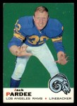 1969 Topps #12  Jack Pardee  Front Thumbnail