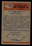 1955 Bowman #151  Mike Jarmoluk  Back Thumbnail