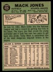 1967 Topps #435  Mack Jones  Back Thumbnail