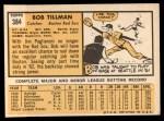 1963 Topps #384  Bob Tillman  Back Thumbnail