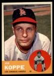 1963 Topps #396  Joe Koppe  Front Thumbnail
