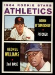 1964 Topps #388   -  George Williams / John O'Donghue Athletics Rookies Front Thumbnail